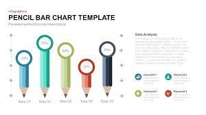 Pencil Bar Chart Powerpoint And Keynote Template Slidebazaar