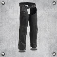 men s leather chaps w zippered thigh pockets heated technology