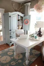Shabby chic home office Industrial Chic Love This Shabby Chic Office Space Not Too Shabby Not Too Chic Pinterest 18 Awesome Antler Decorating Ideas And 17swoon My Shabby