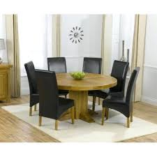 turin round dining set leather 150 oak furniture house round oak dining table with 4 chairs