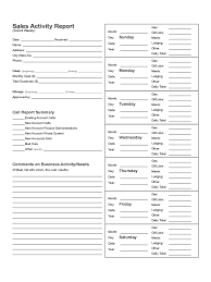 Free Sales Call Report Template Daily Download Weekly Spreadsheet