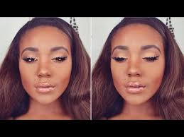 summer golden bronze makeup tutorial 2016 summer makeup tutorial for black women dark skin you
