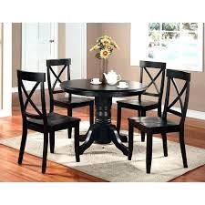 black round pedestal dining table black pedestal dining table 5 piece black pedestal set black round