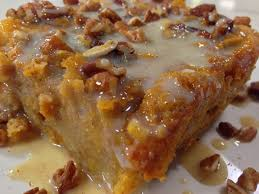 lucy s sweet potato bread pudding with vanilla cream sauce