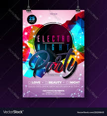 Poster Design Party Night Dance Party Poster Design With Abstract