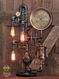 steampunk lighting. Steampunk Industrial / Antique Steam Gauge Lamp Gear Oiler  Williamsport PA # Steampunk Lighting S