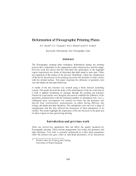 Pdf Deformation Of Flexographic Printing Plates