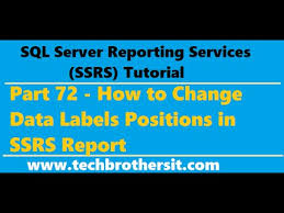 Ssrs Tutorial 72 How To Change Data Labels Positions In Ssrs Report