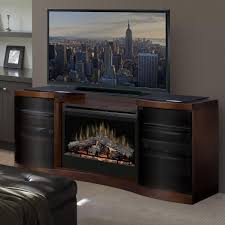 dimplex acton 72 inch electric fireplace a console inner glow logs walnut gds33 1246wal