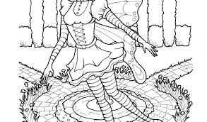 Printable Gothic Fairy Coloring Pages Free Coloring Book