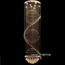 stairway crystal led chandelier lamps long creative europe crystal led lights luxury el hanging light