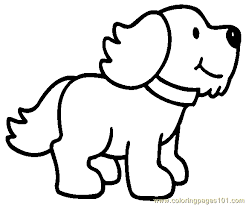Small Picture Printable Coloring Page Dog Puppy Mammals Dogs Bebo Pandco