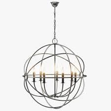 foucaults iron orb chandelier rustic iron um 3d model max obj fbx mtl 2