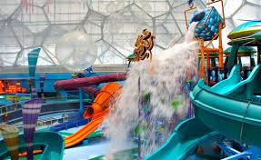 underwater water park. Slides At Watercube Waterpark, Beijing Underwater Water Park A