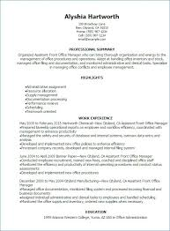 Resume Office Assistant Luxury Chiropractic Assistant Resume