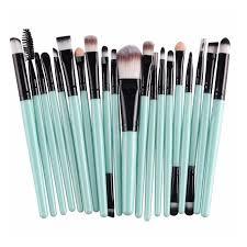 makeup brush set blue black 1