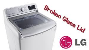 lg top loader clothes washing machine glass lid door install easy diy