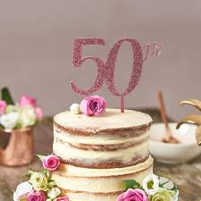 Cake Topper For 50th Birthday By Suzy Q Designs Notonthehighstreetcom