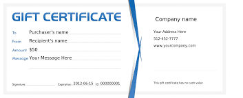 Gift Certificates For Your Business Blank Gift Certificate New Gift Certificates Crisia Net