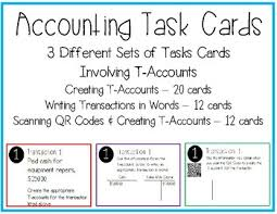 t account in accounting accounting t account task cards by nallys nook tpt
