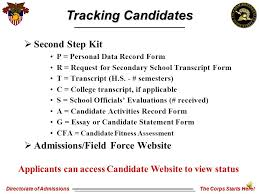 Fitness Assessment Form Fascinating Directorate Of Admissions The Corps Starts Here Field Force