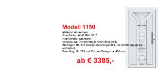 Fenster Haustüren Recklinghauen Aluminiumhaustüren Modell 1150