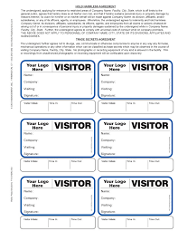 Visitors Log In Sheet Visitors Sign In Book Template