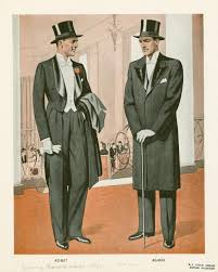 two men wearing formal dress and top hats