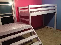 Loft platform bed Super High Ana White Ana White Twin Loft Beds With Platform Diy Projects