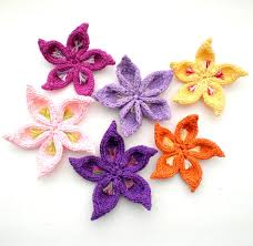 Knitted Flower Pattern Enchanting PDF Knit Flower Pattern Sakura Flower W Party Pinterest Knit