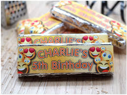 Chocolates Wrappers 6 X Personalised Emoji Happy Birthday 2 Finger Kitkat Chocolate Bars Wrappers N21
