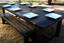 diy outdoor farmhouse table. My Farmhouse Table And Bench Diy Outdoor O