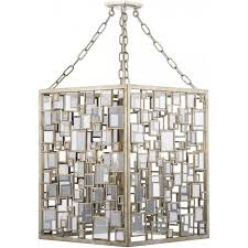 foyer 4 light ceiling pendant with antique silver gold finish