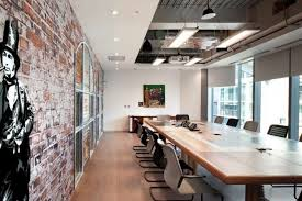 office design companies office. graffiti and exposed bricks in the splunk office boardroom design companies e