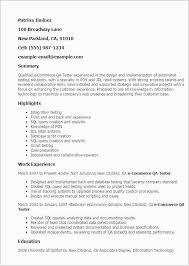 Database Testing Resumes Qa Manual Tester Sample Resume Free Download Sample Resume For