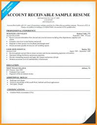 Sample Resume For Accounts Payable And Receivable Accounts