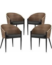 urban modern furniture. Modern Urban Contemporary Dining Chairs, Walnut Wood Metal, Set Of 4 Furniture