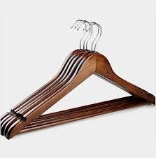 quick view set of 20 premium varnished dark wood clothes hanger