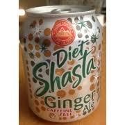 shasta t soda ginger ale caffeine free nutrition