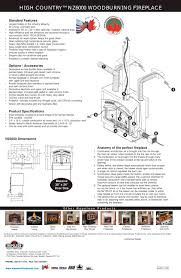 high country nz6000 woodburning fireplace 1 4 pages
