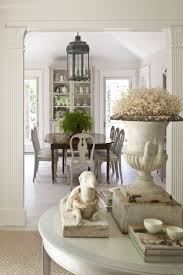 dining room table lighting. Dining Room Decor Ideas - Traditional Farmhouse Style Featuring Oval Table, Rustic Lantern Light Fixtures And Built-ins All In A Neutral Cream Table Lighting E