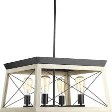 progress lighting briarwood 20 in 4 light graphite chandelier