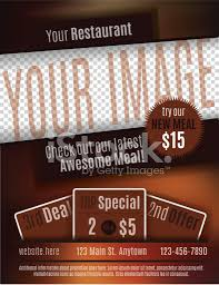 restaurant coupon flyer template design stock photos images com restaurant coupon flyer template design