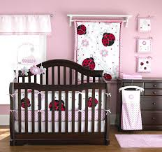 pink and brown bedding sets lady bug nursery pretty pink ladybug crib  bedding pretty in pink .