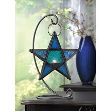 blue lantern glass star light lantern glass star lantern candle lantern glass