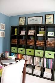 ikea office organizers. Home Office Organization Using Ikea Bookshelf + Boxes, Bins Baskets. /  Bureau à Domicile Organisé Avec étagère Paniers, Bacs Et Boîtes De Rangement Ikea Organizers