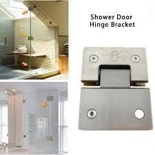 details about stainless steel 180 frameless glass to glass shower door hinge bracket