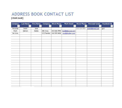 Excel Printable Phone Message Sheets Address Book Template Personal