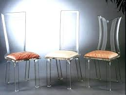 modern acrylic furniture. Acrylic Dining Room Chairs View In Gallery Modern Glass Table And Furniture O