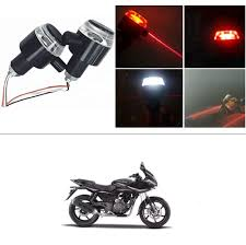 Bar End Lights For Pulsar Kunjzone Bike Handlebar Light Indicators With Laser Light